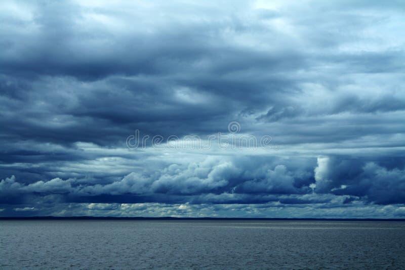 蓝色海洋云彩风景 库存照片