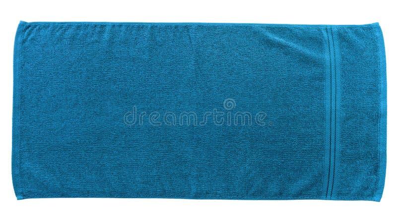 蓝色海滩毛巾 免版税库存照片