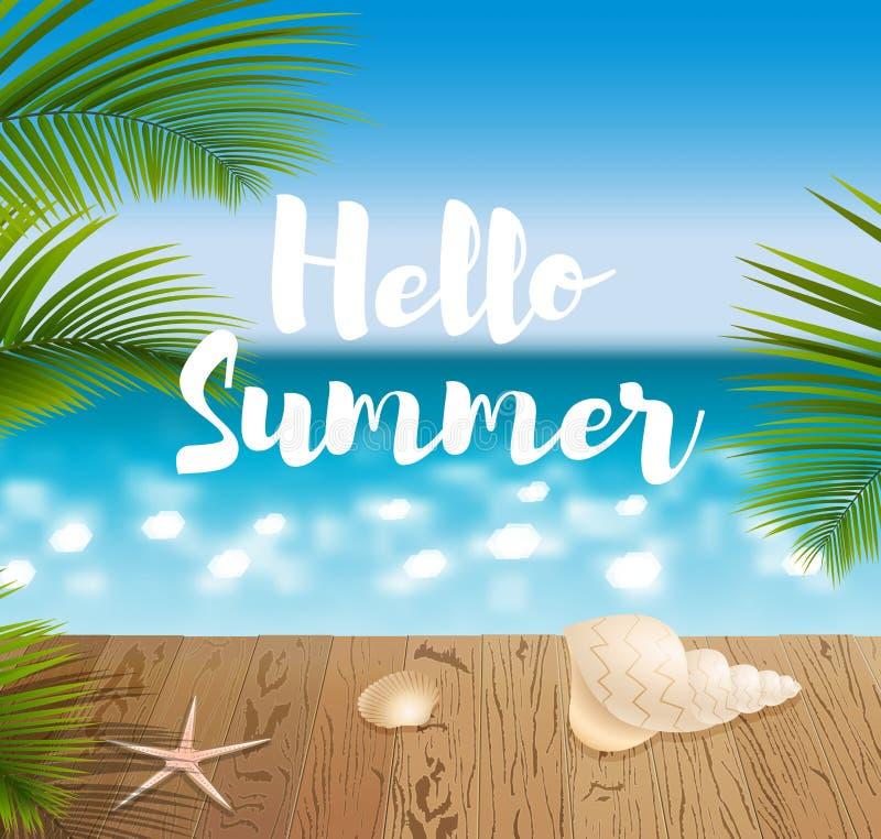 Download 蓝色海洋海景 向量例证. 插画 包括有 夏威夷, 加勒比, 椰子, 节假日, beautifuler, 绿色 - 72362239