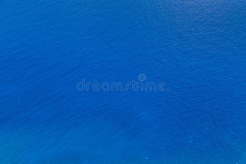 蓝色海水纹理 免版税库存图片