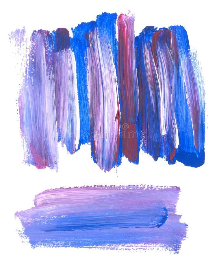 绘蓝色涂抹背景 皇族释放例证