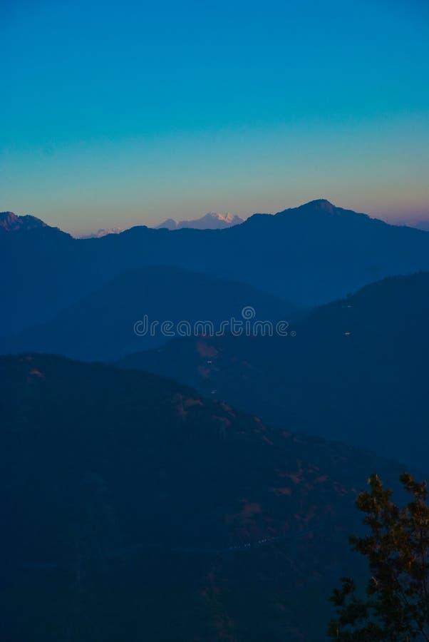 蓝色深刻的日出 库存照片