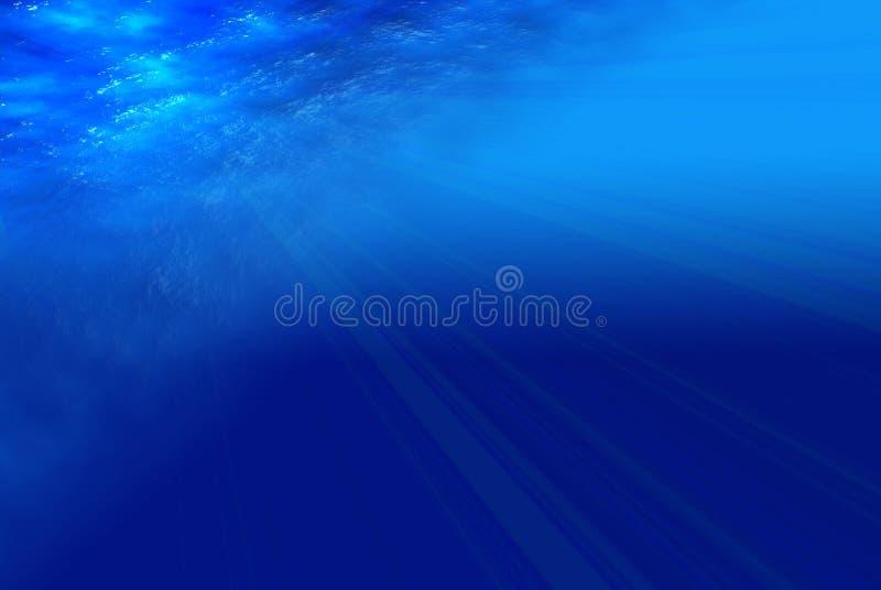 蓝色深海视图 库存例证