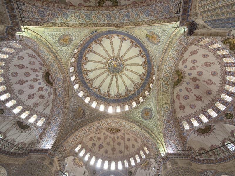 蓝色清真寺天花板,伊斯坦布尔 库存照片