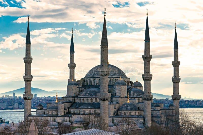 蓝色清真寺,伊斯坦布尔,土耳其。 免版税图库摄影