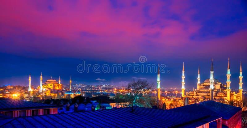 蓝色清真寺,伊斯坦布尔,土耳其。 免版税库存照片