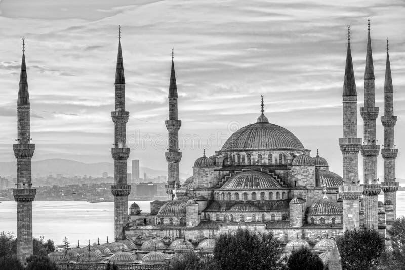 蓝色清真寺, Sultanahmet Camii,伊斯坦布尔,土耳其 库存图片