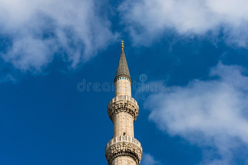 蓝色清真寺, Sultanahmet Camii,尖塔 免版税库存图片