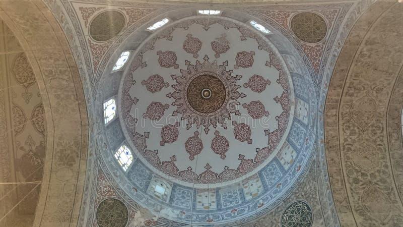 蓝色清真寺,Sultanahmet Camii,伊斯坦布尔,土耳其细节  库存照片