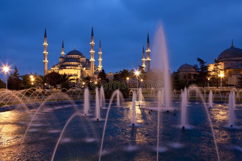 蓝色清真寺-伊斯坦布尔 免版税库存图片