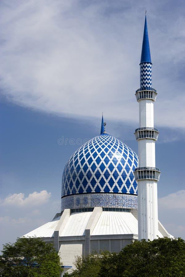 蓝色清真寺 免版税库存照片