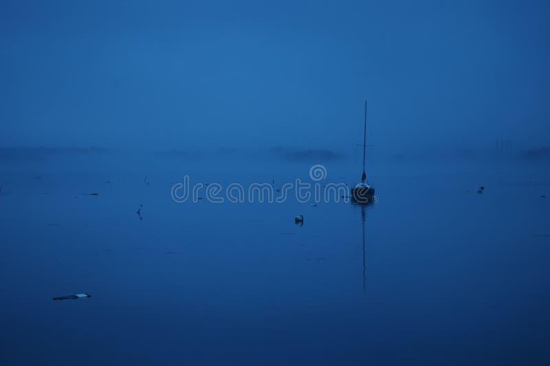 蓝色港口 库存照片