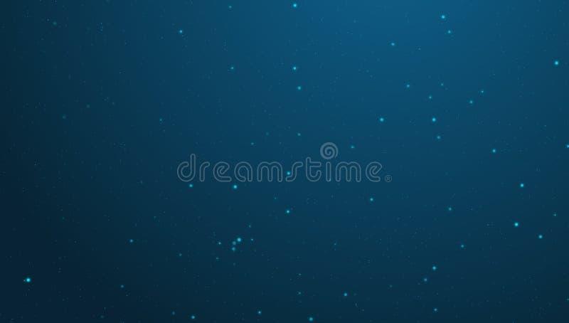 蓝色满天星斗的背景4K 向量例证