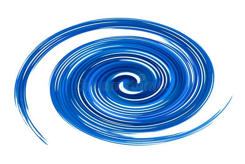 蓝色漩涡 库存例证