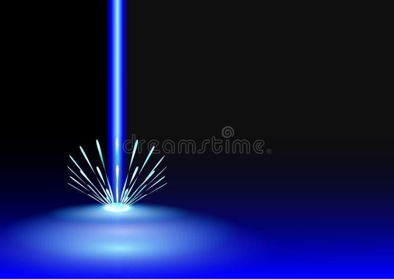 蓝色激光背景 皇族释放例证