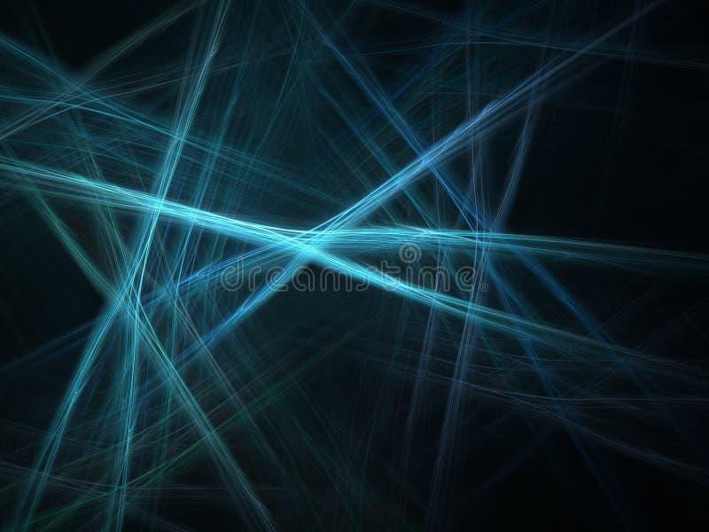 蓝色激光 库存例证