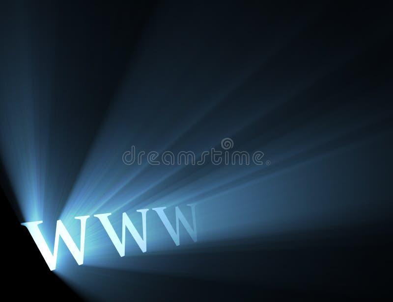 蓝色火光光万维网宽世界万维网 皇族释放例证