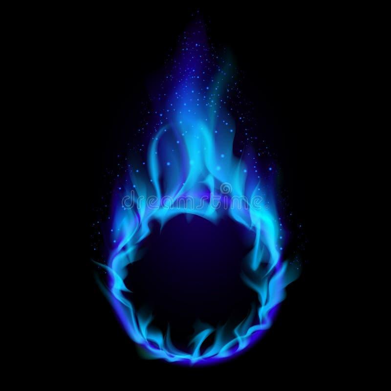 蓝色火环形 皇族释放例证