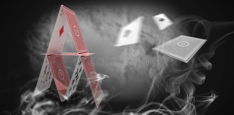 蓝色烟的综合3d图象 皇族释放例证