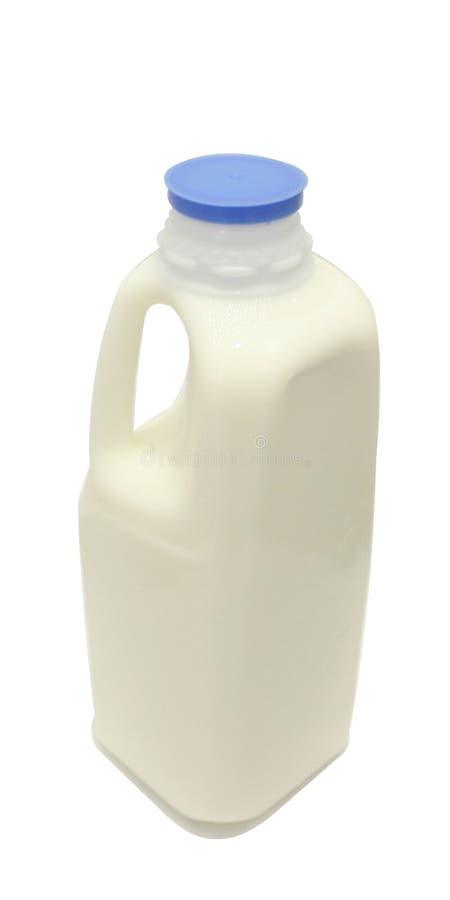 蓝色焰晕牛奶夸脱 免版税库存照片