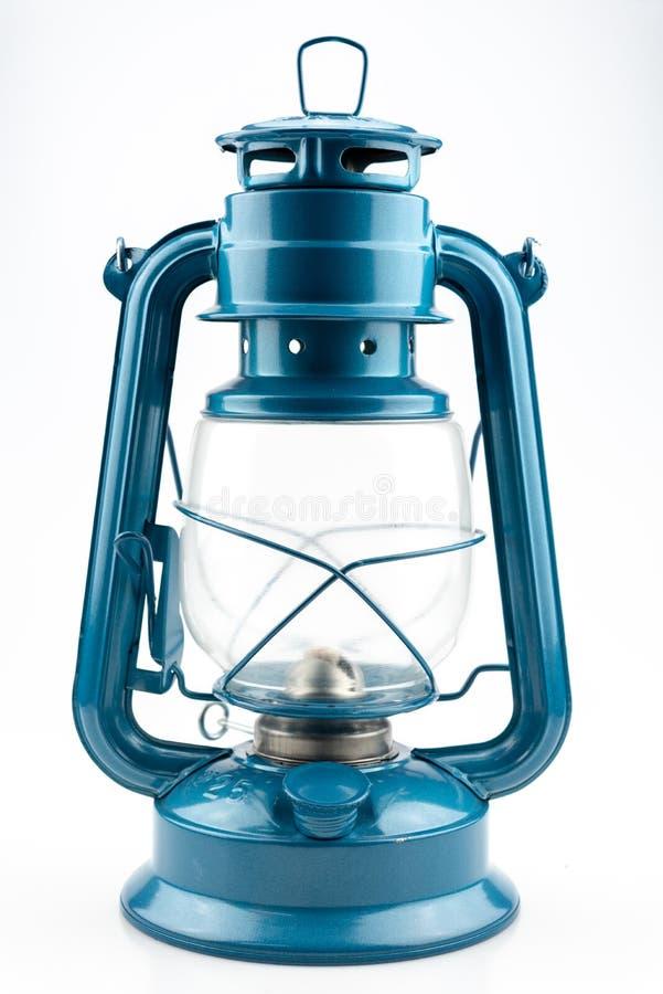 蓝色煤油灯 库存图片
