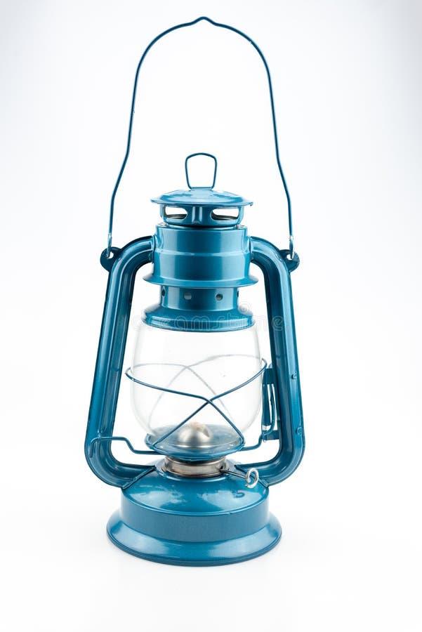 蓝色煤油灯 图库摄影