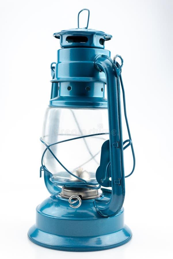 蓝色煤油灯 库存照片