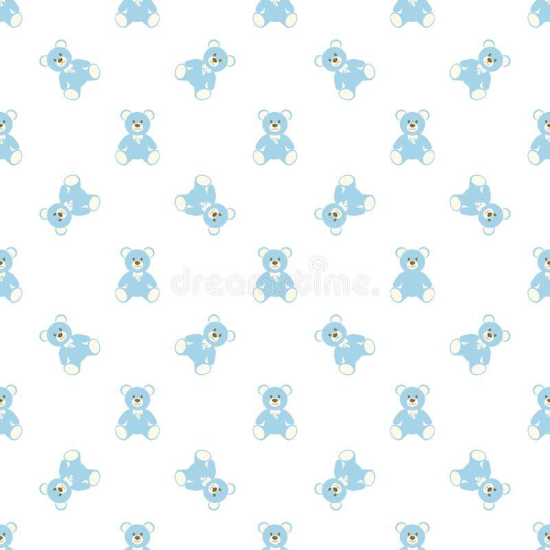 蓝色熊样式 库存例证