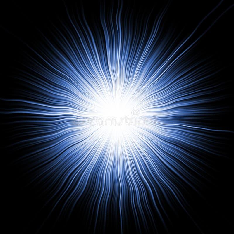 蓝色爆炸星形 库存例证