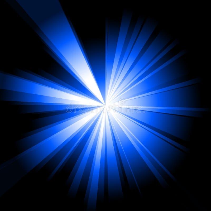 蓝色爆炸 库存例证