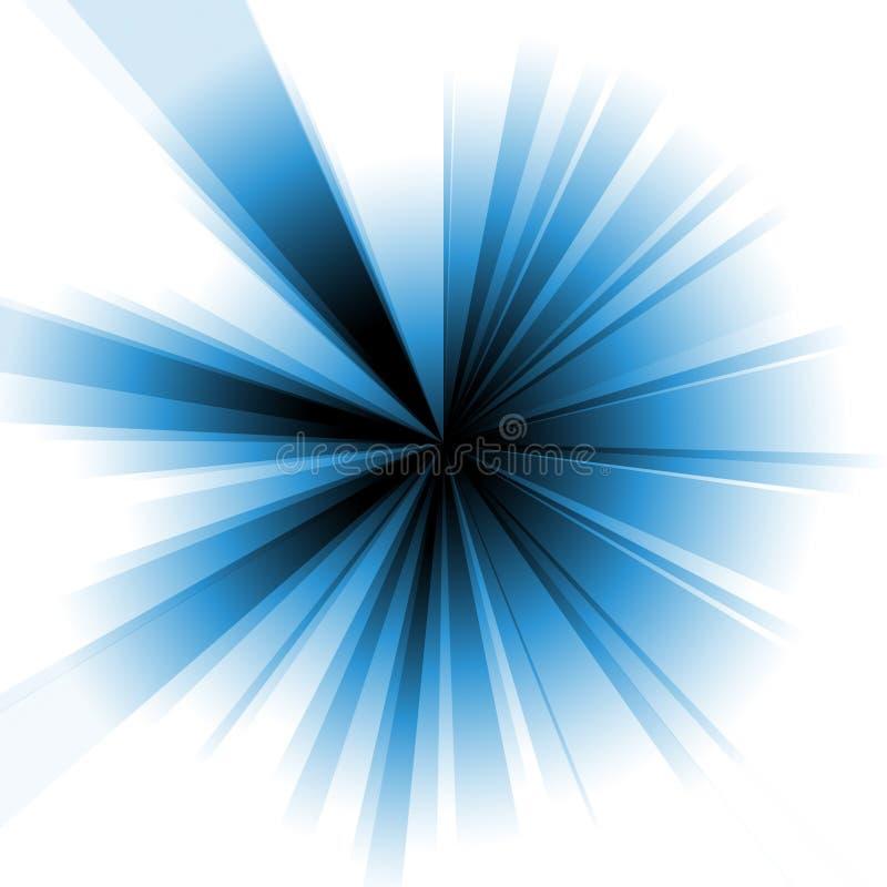 蓝色爆炸 向量例证