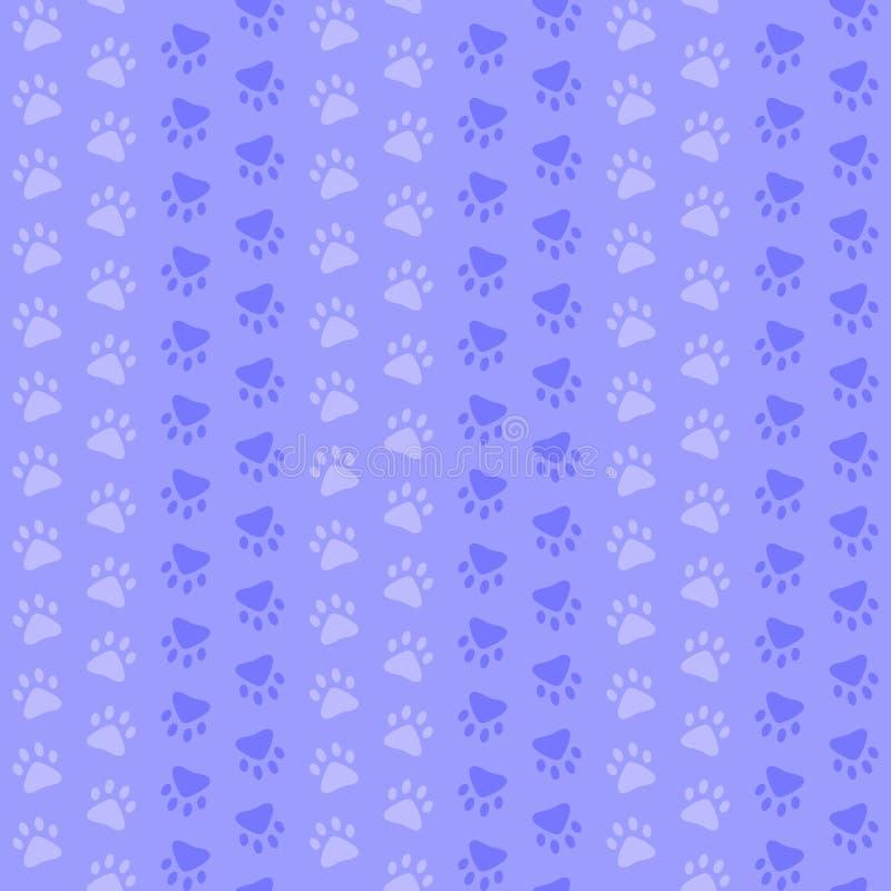 蓝色爪子脚印 r 简单的婴孩反复背景 纺织品油漆 织品样片 r 皇族释放例证
