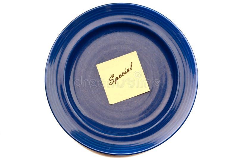蓝色牌照特殊 免版税图库摄影