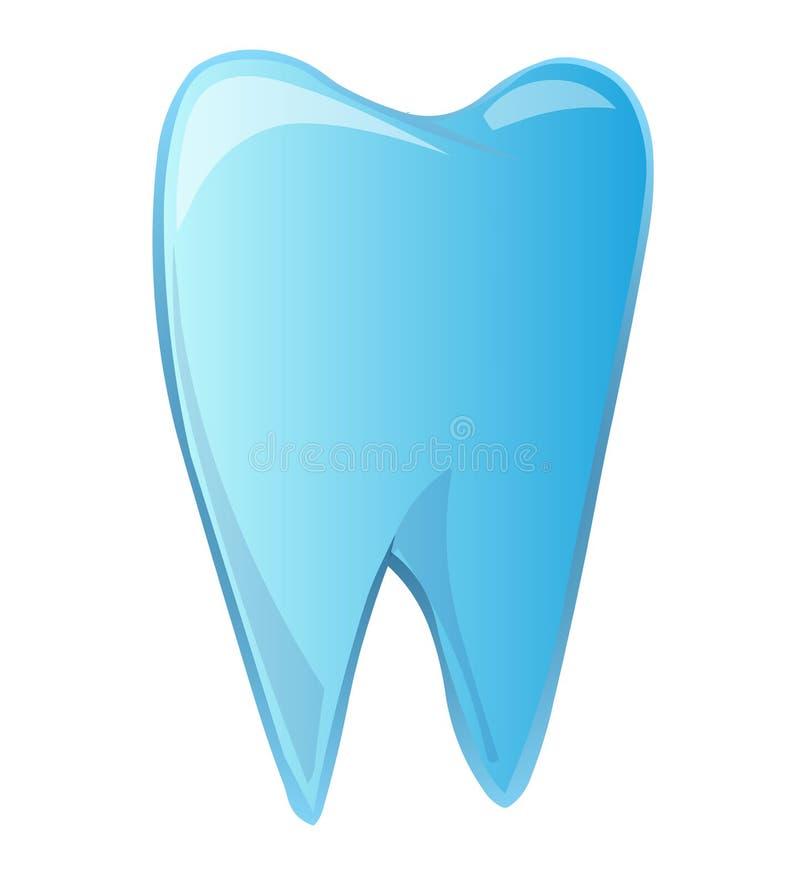蓝色牙 库存例证