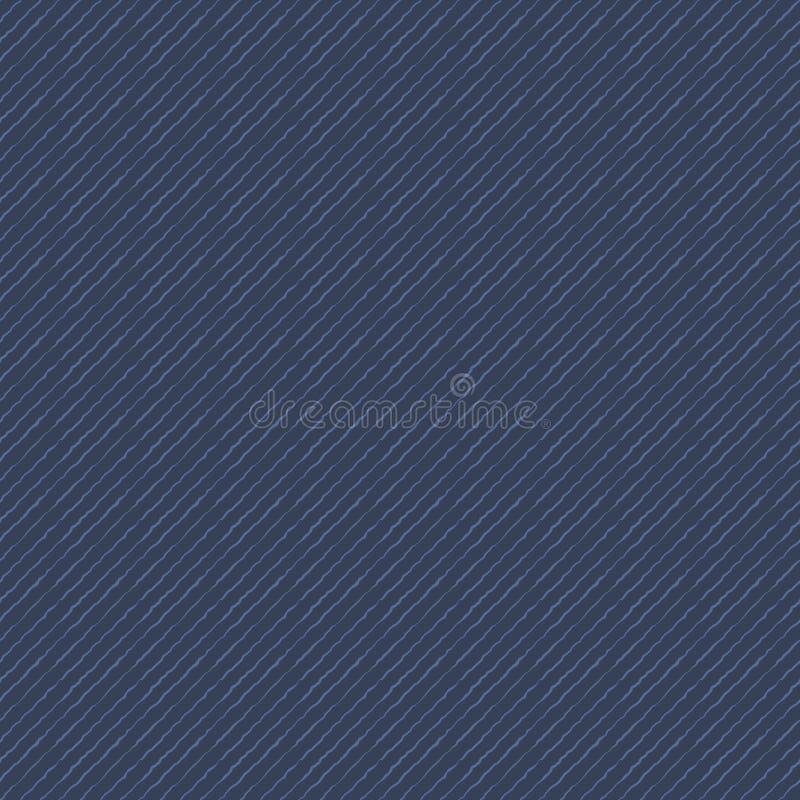 蓝色牛仔布人为传染媒介织品纹理样式 皇族释放例证