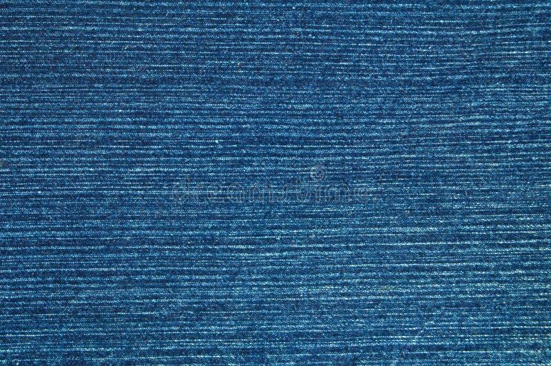 蓝色牛仔布材料 库存图片