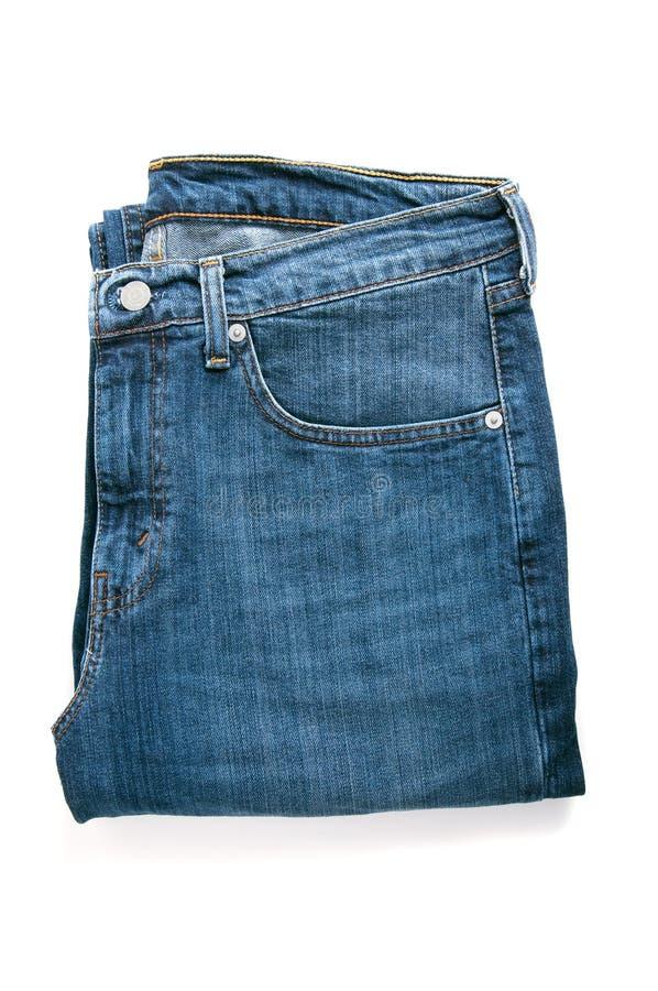 蓝色牛仔裤对 图库摄影