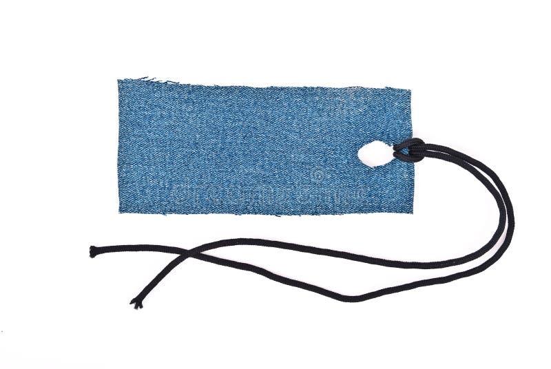 蓝色牛仔裤标签 免版税图库摄影