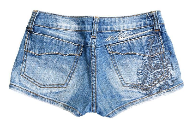 蓝色牛仔裤短裤 库存图片