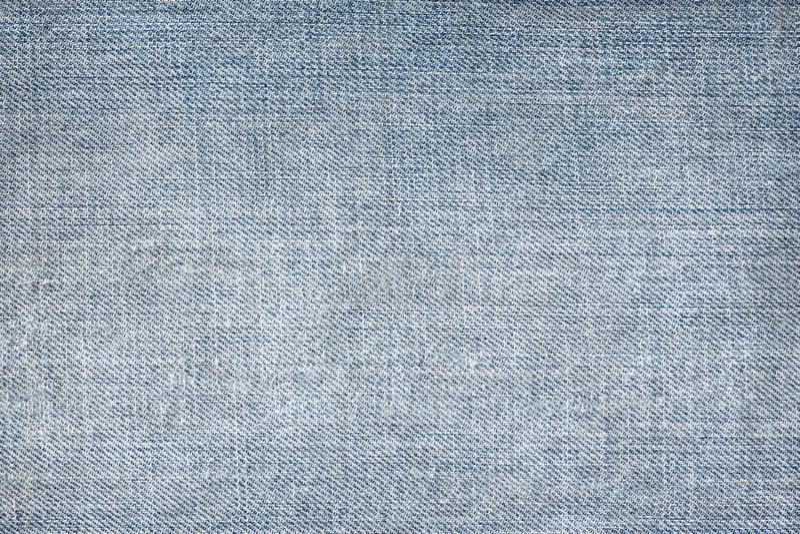 蓝色牛仔裤纹理无缝,牛仔布细节布料样式的和背景,关闭 图库摄影