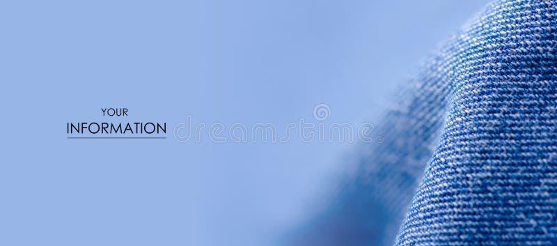 蓝色牛仔裤织品布料材料纹理纺织品宏观样式 免版税库存照片