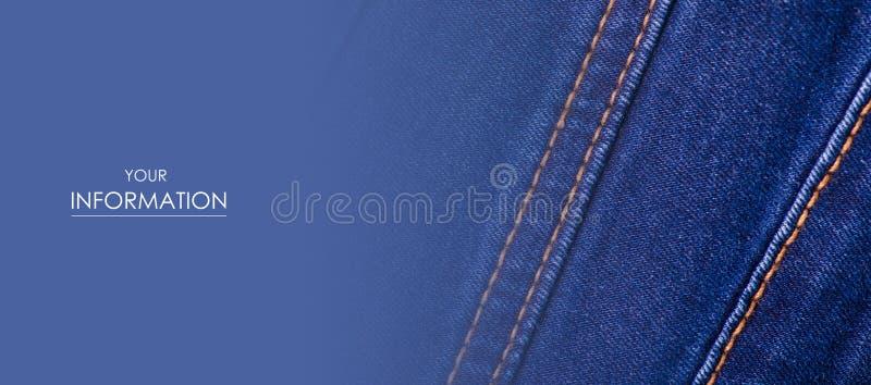 蓝色牛仔裤织品布料材料纹理纺织品宏观样式 库存图片