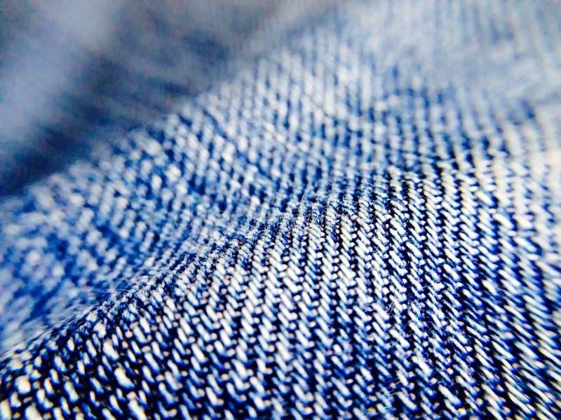 蓝色牛仔裤材料 免版税库存图片