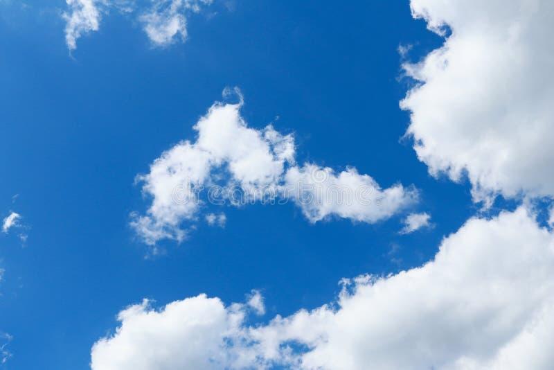 蓝色特写镜头云彩天空 免版税图库摄影
