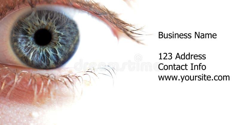 蓝色特写镜头眼睛宏指令 免版税库存图片
