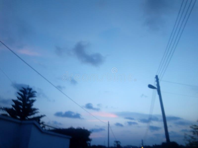 蓝色独特的天空 库存照片