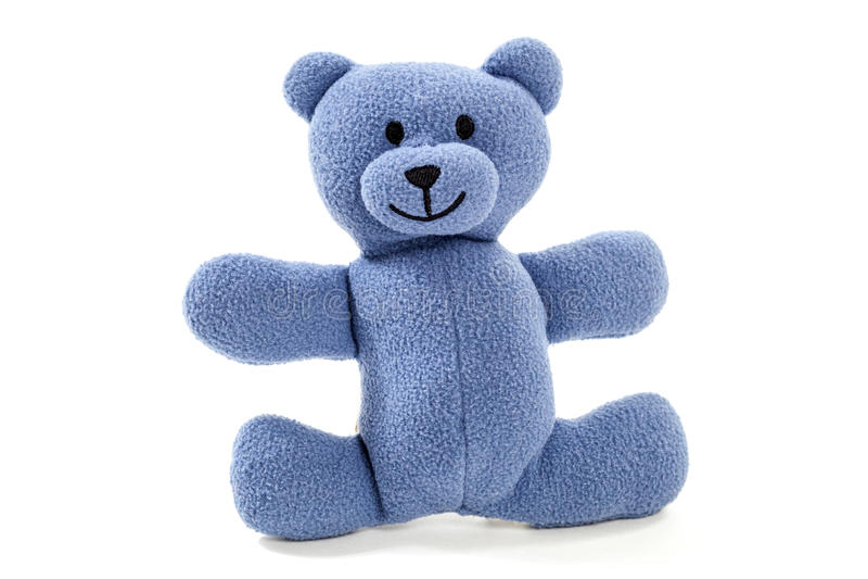 蓝色玩具熊 库存图片