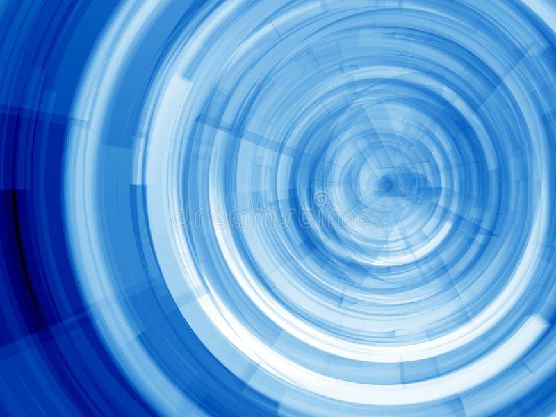 蓝色环形 库存例证