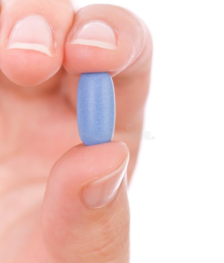 蓝色现有量藏品药片 库存照片