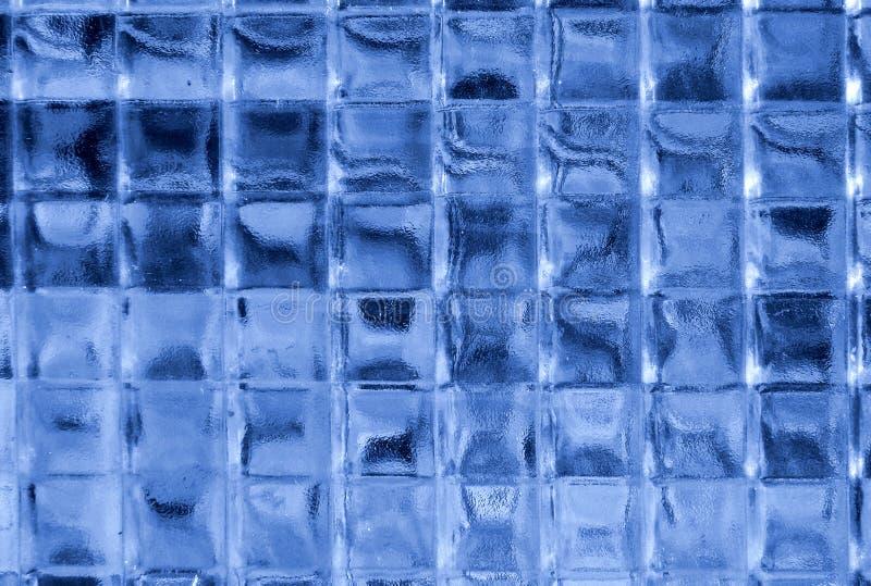 蓝色玻璃正方形 免版税库存图片